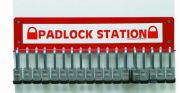 Steel padlock station small